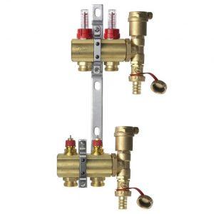 Распределительные коллекторы для систем водяного отопления и теплого водяного пола тип FHF